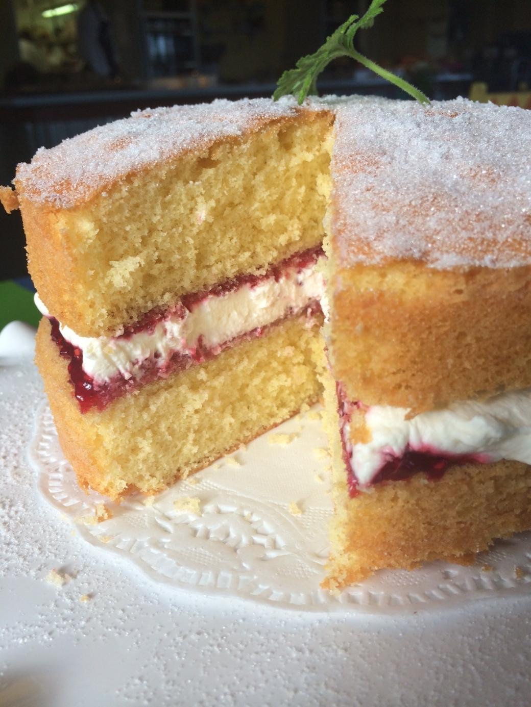 Victoria Sponge Cake at Ballymaloe Cookery School