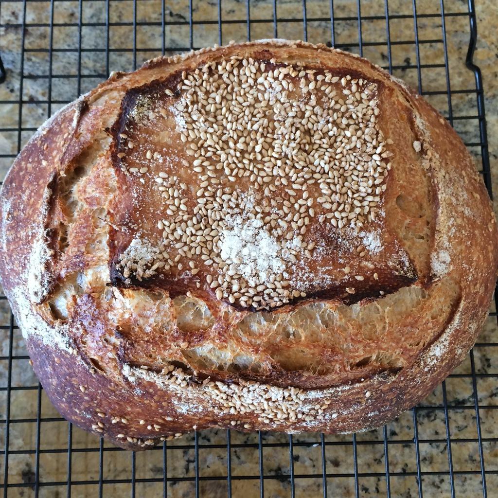 sourdough sesame loaf