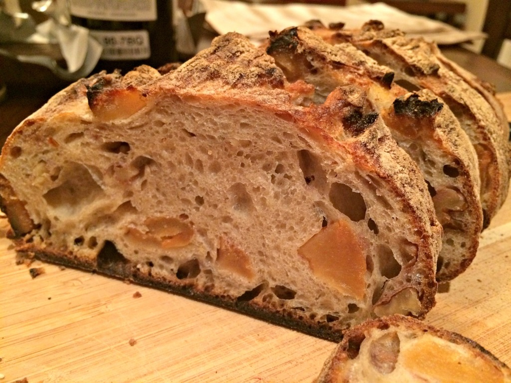 the crumb of my walnut and pear bread