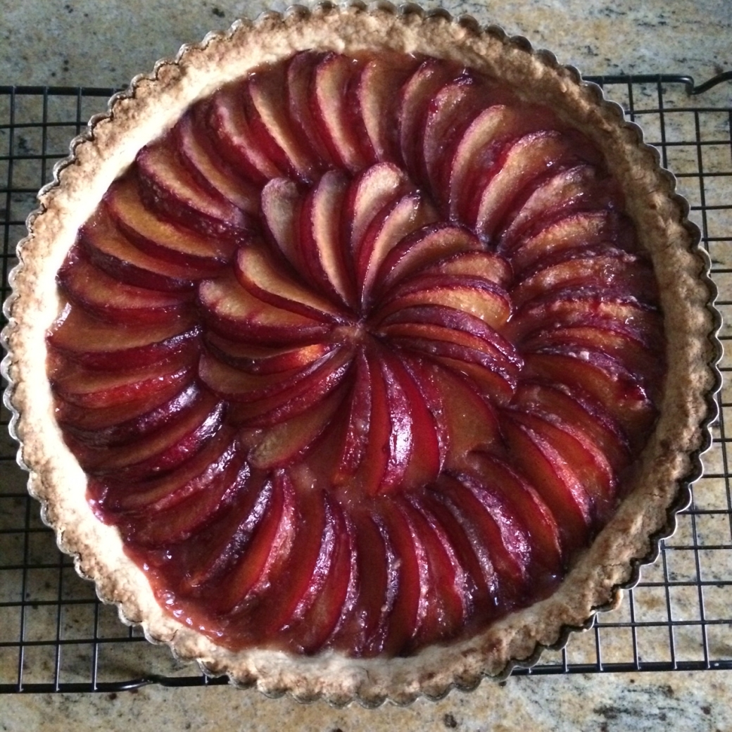 pluot fruit tart