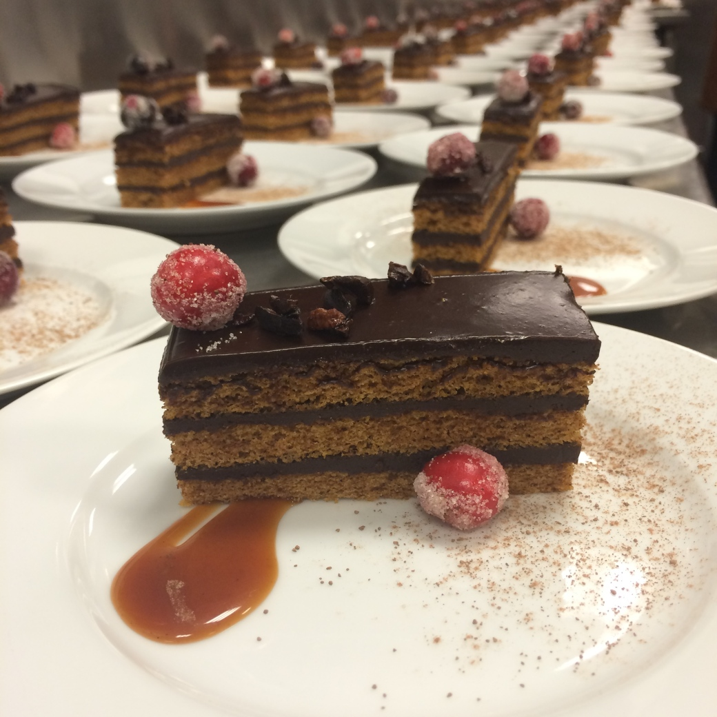 Dandelion Chocolate pumpkin spice cake