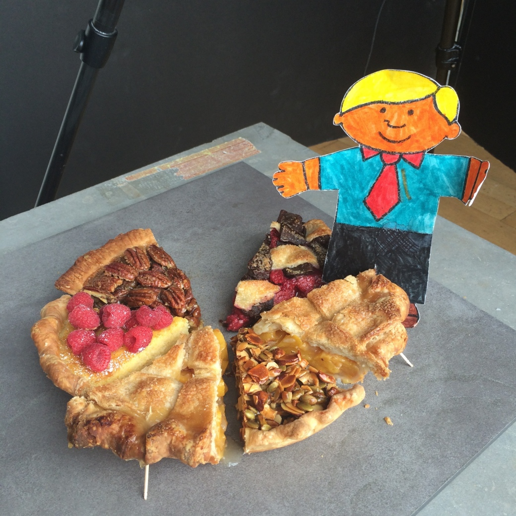 flat stanley with pie